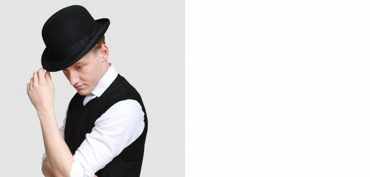 men bowler hat