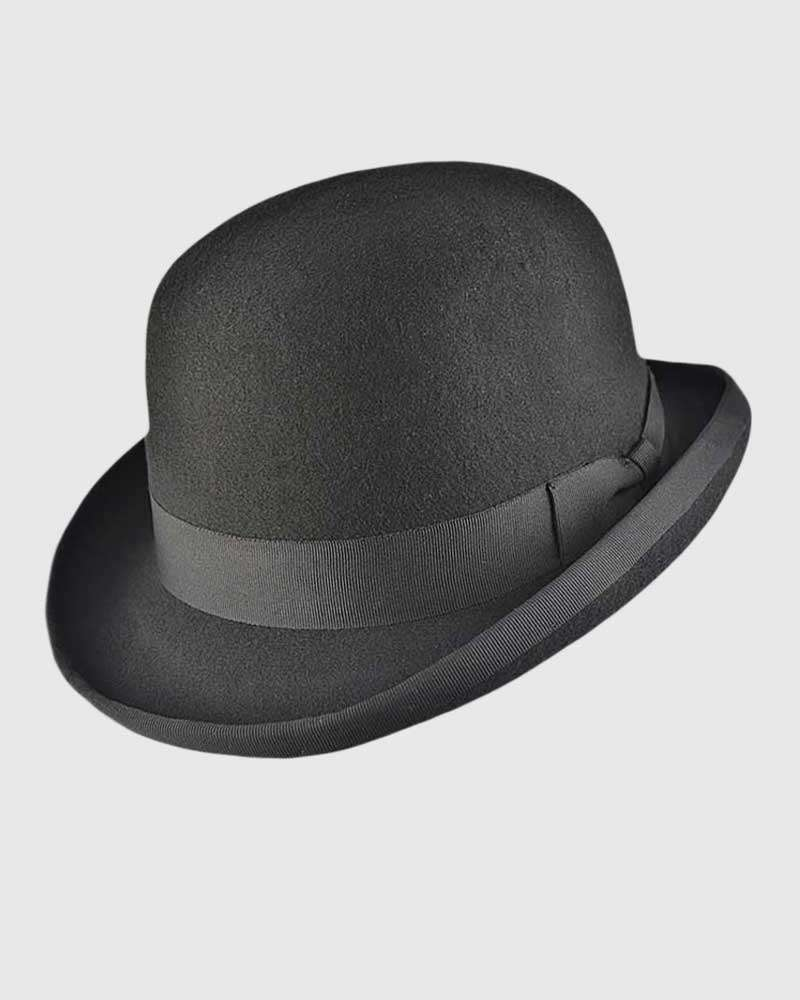 Wool Felt Bowler Hat– Black