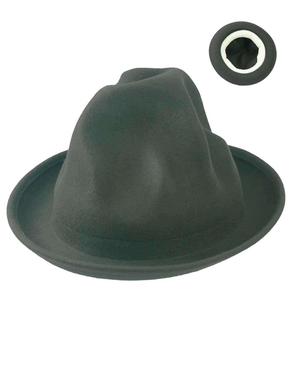 Oversized Mountain Hat Odd Shaped- Black