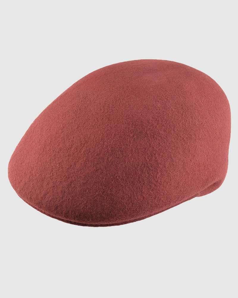 Flat Ascot Hat -Burgundy