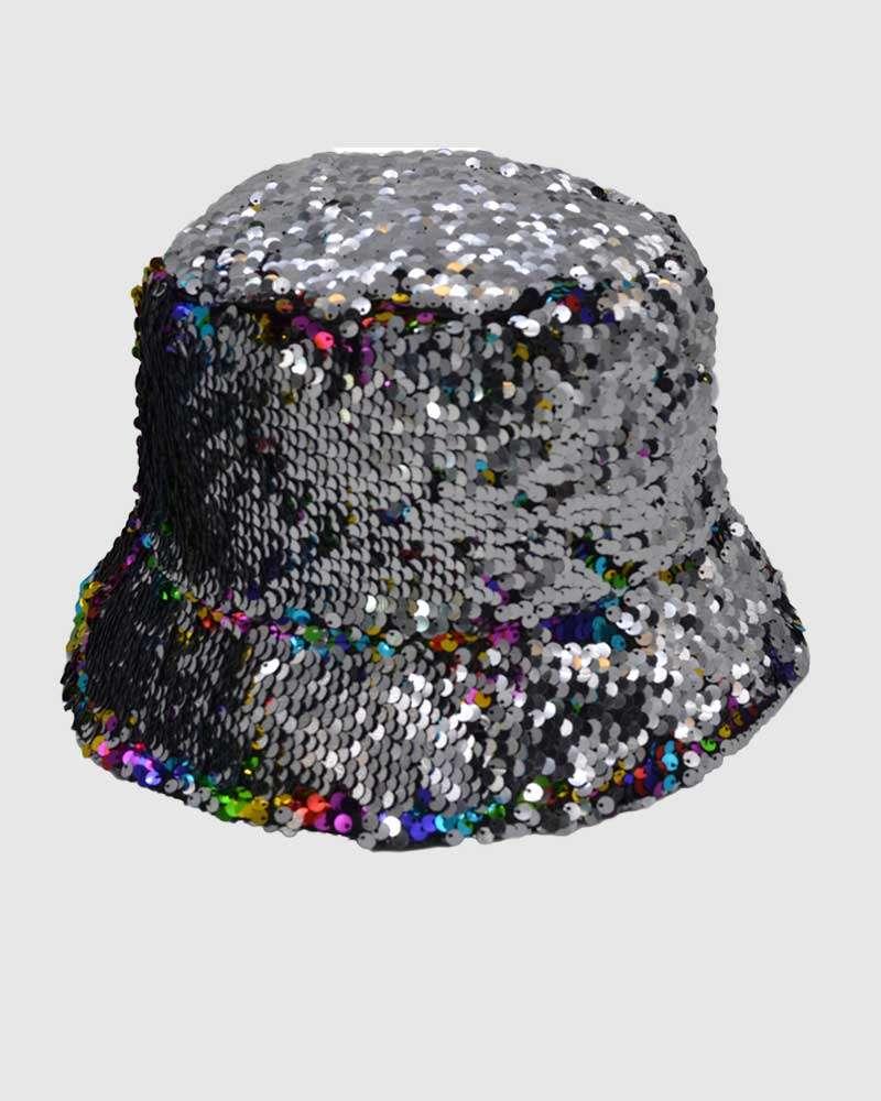 Glitter Bucket Hat - Silver