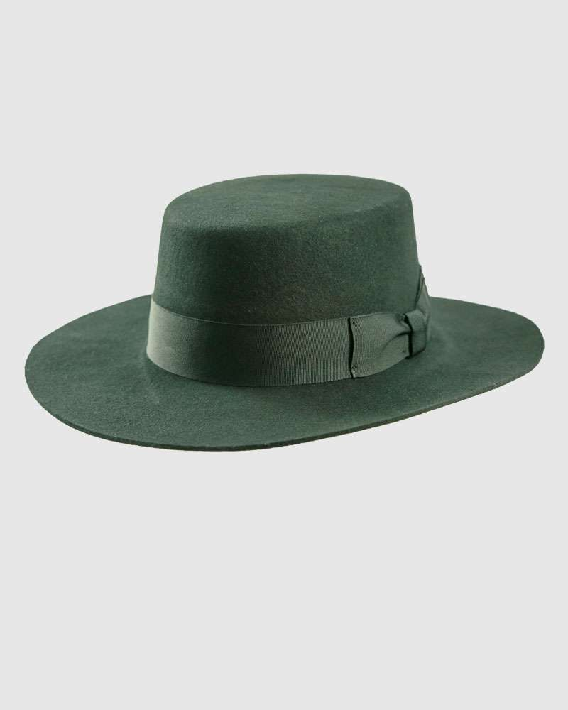 Long Brimmed Bolero Hat - Wool Felt