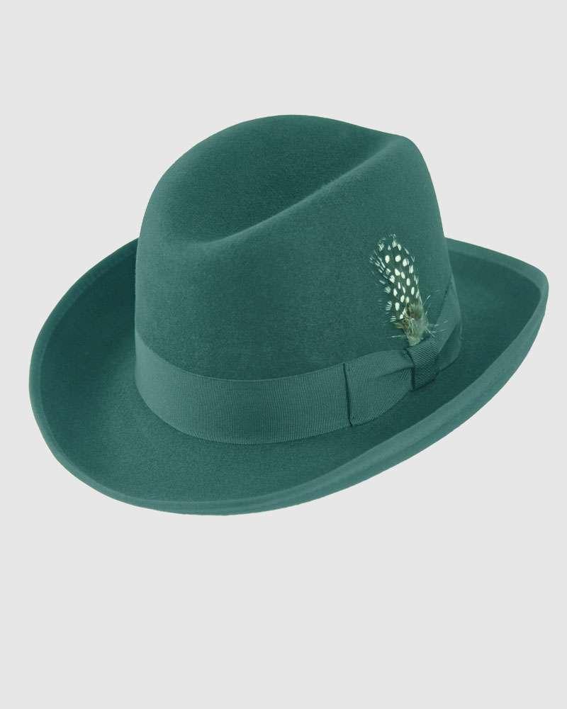 The Classic Homburg Hat -Black