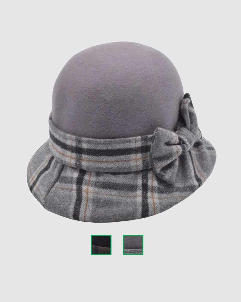 Womens Winter Cloche Hat - Wool Felt