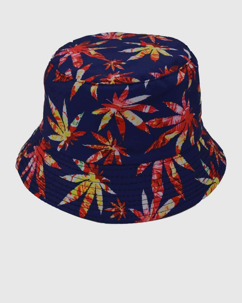 Leaves Bucket Hat - Blue