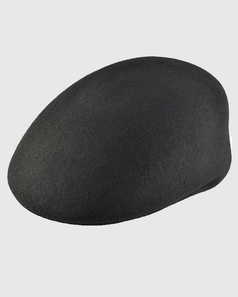 Flat Ascot Hat -Black