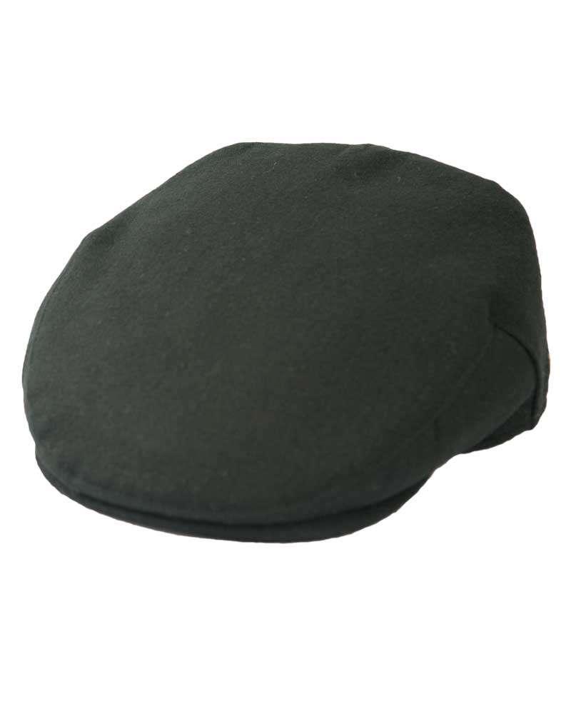 Classic Wool Flat Cap- Black