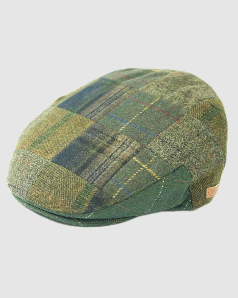Tweed Wool Flat Cap - Multi-Coloured