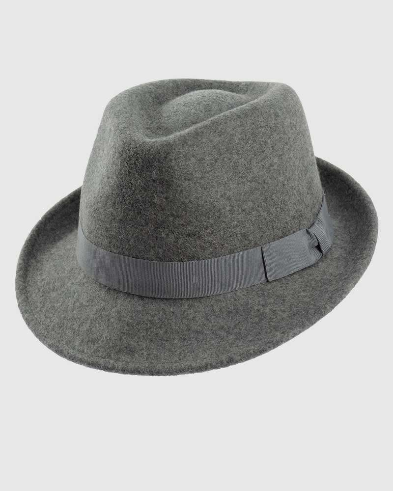 Trilby Fedora Hat Gangster – Mix Grey