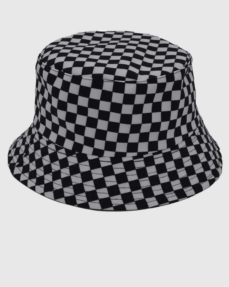 Packable Bucket Hat - Black and White
